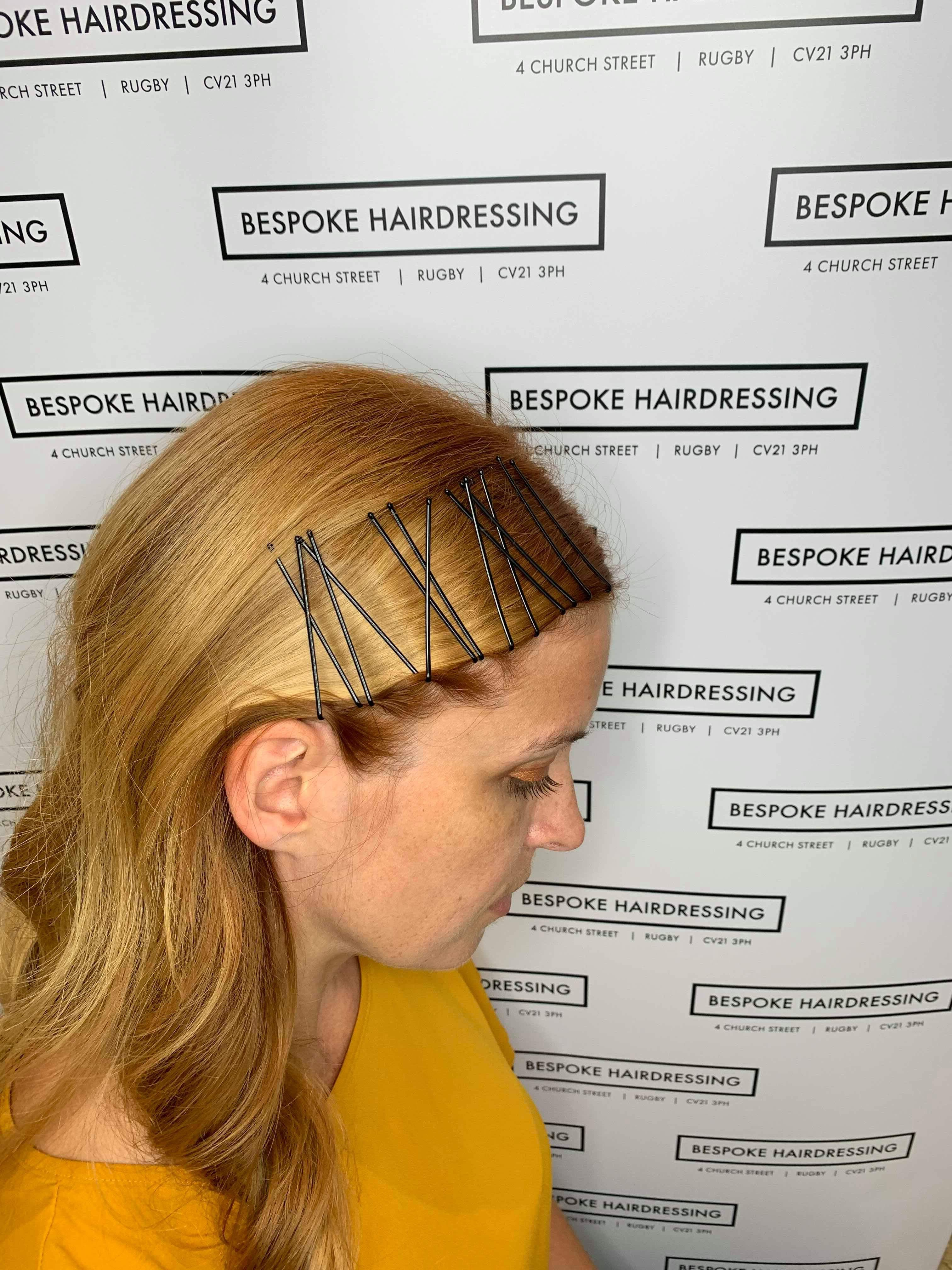 Bespoke Hairdressing Rugby Stacked hair grips