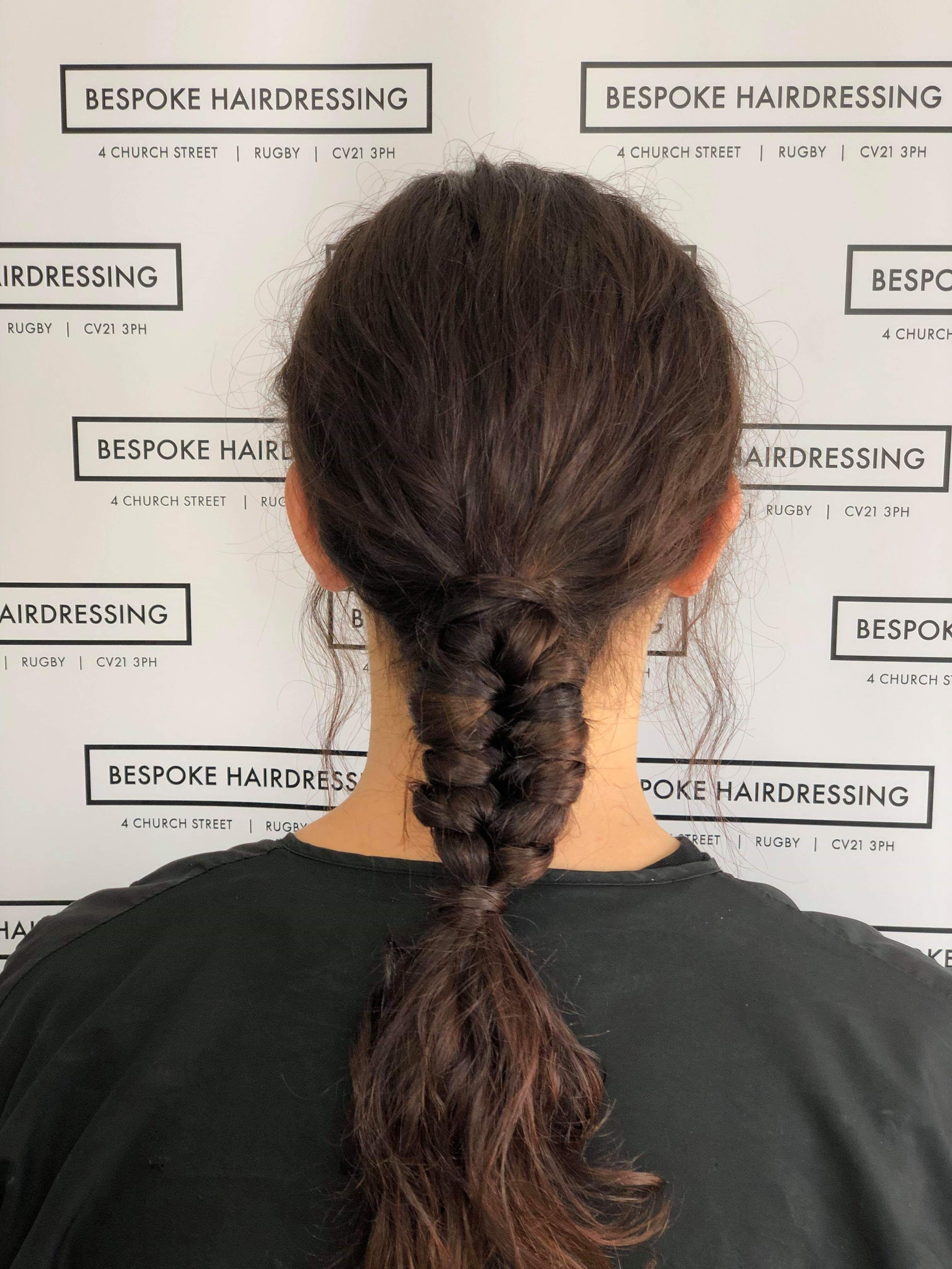 Bespoke Hairdressing Rugby partly braided pony-tail
