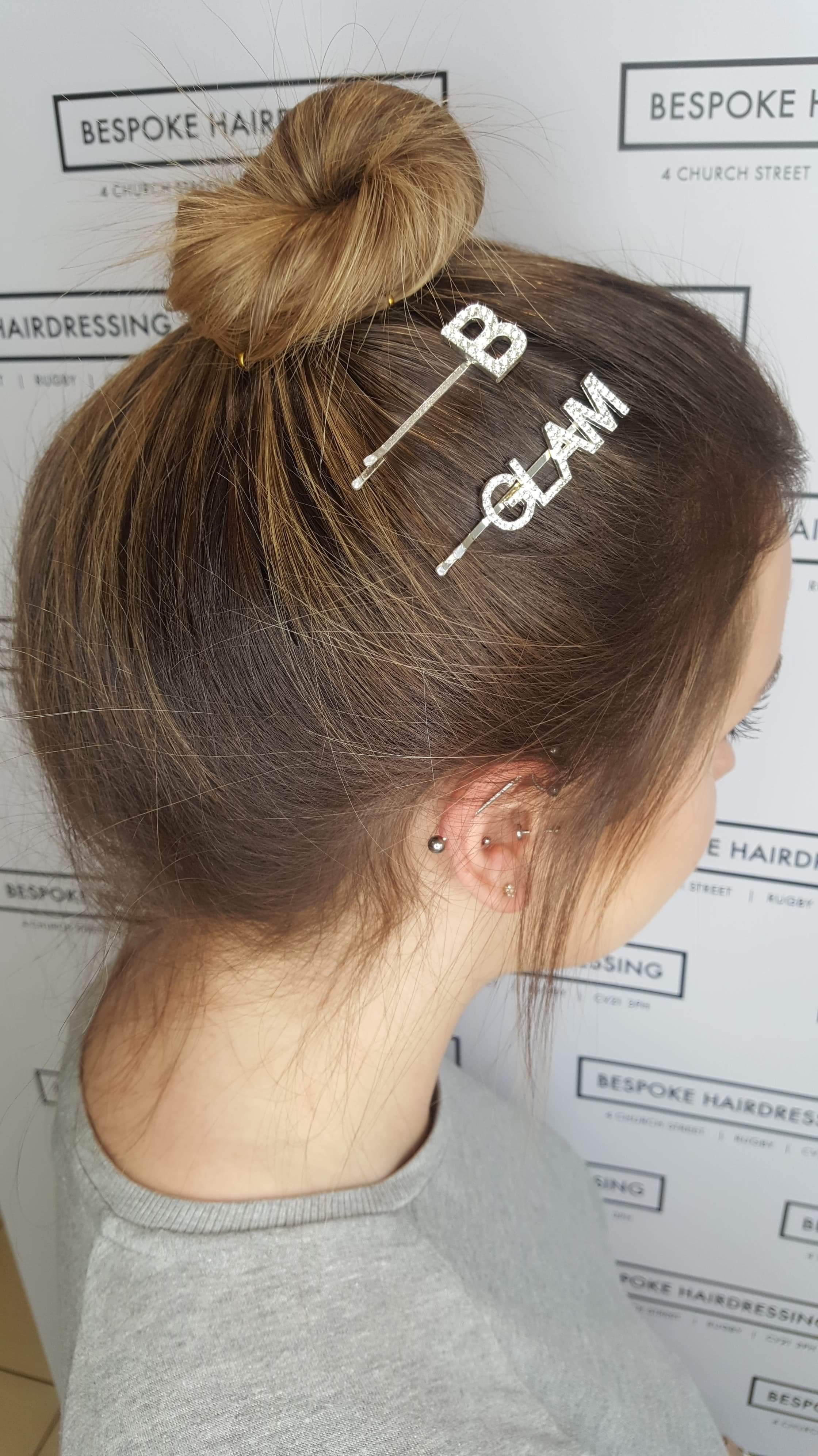 Bespoke Hairdressing Rugby sleek top knot